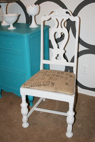 Burlap chair candice1